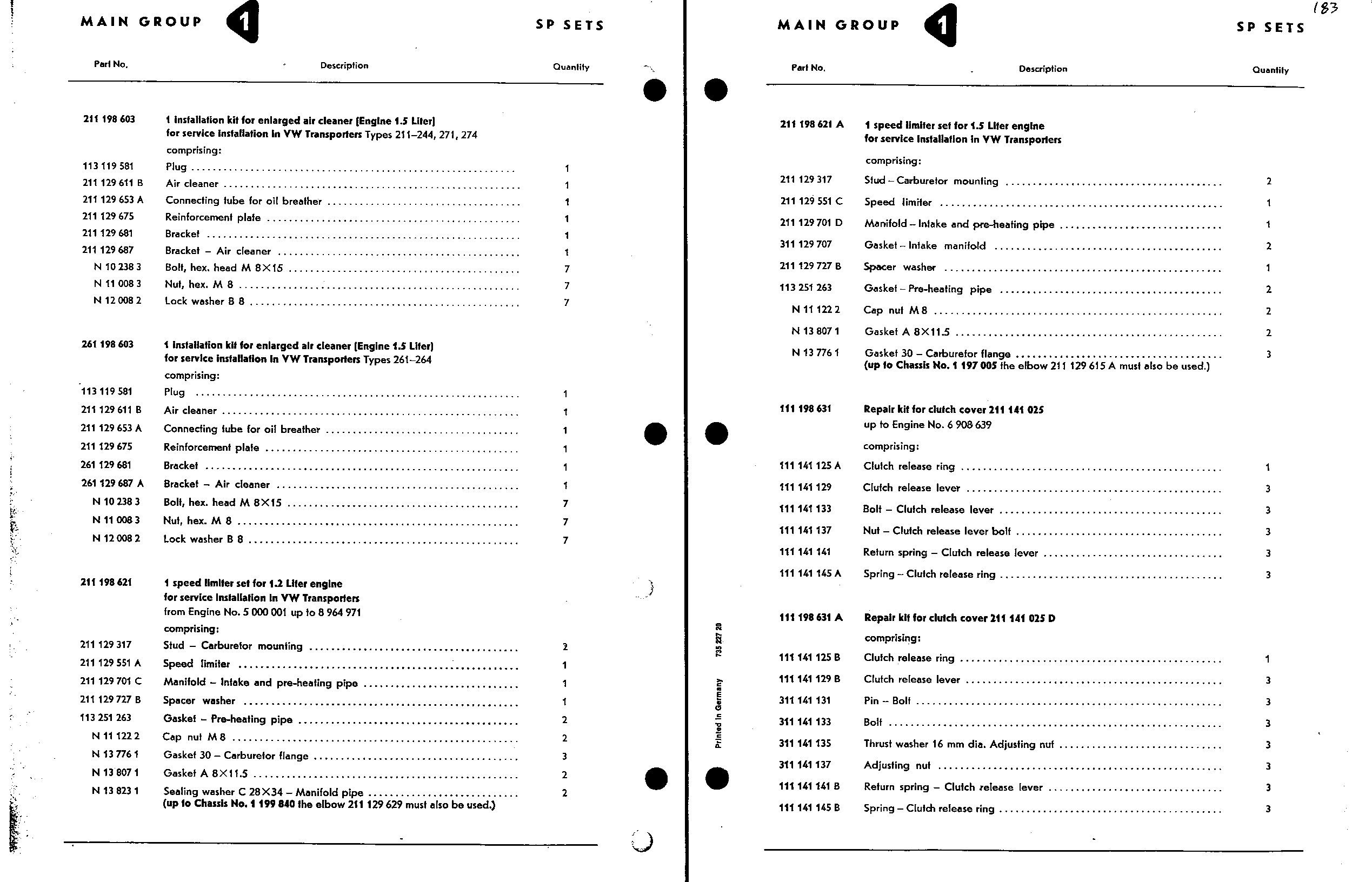Obsolete Air-Cooled Documentation Project -- Type 2 Parts
