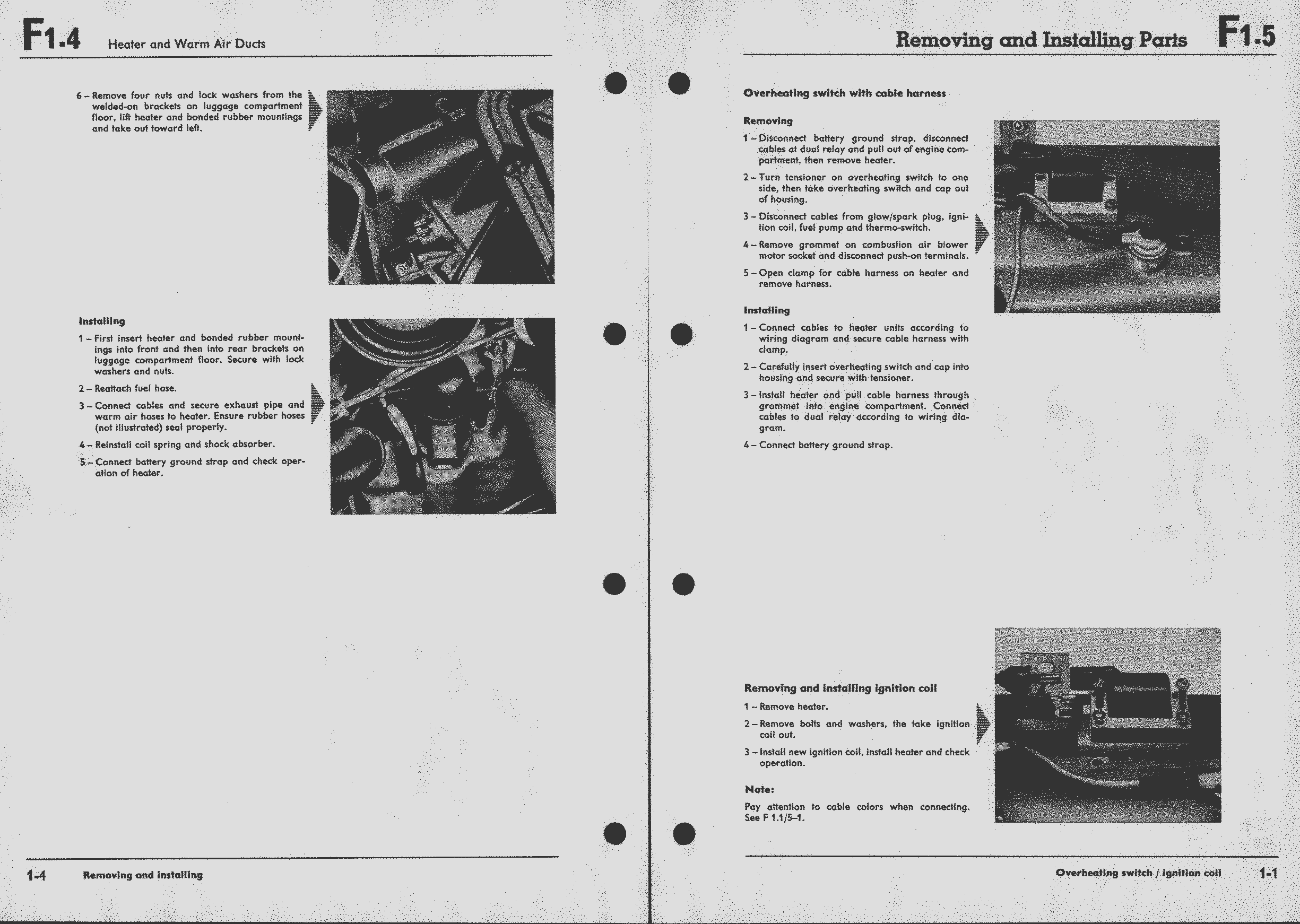 1973 Vw Super Beetle Wiring Diagram For Rear Window Defroster Air Cooled Ignition Coil Obsolete Documentation Project Workshop Manual