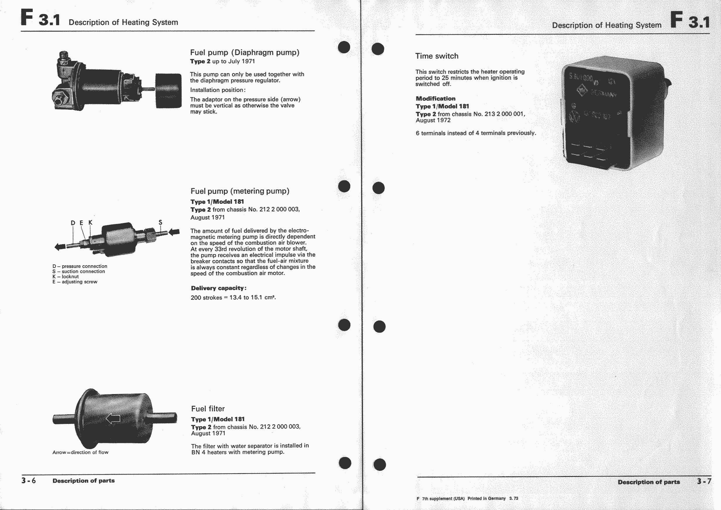 Obsolete Air Cooled Documentation Project Vw Workshop Manual Type 181 Wiring Diagram Types 2 And