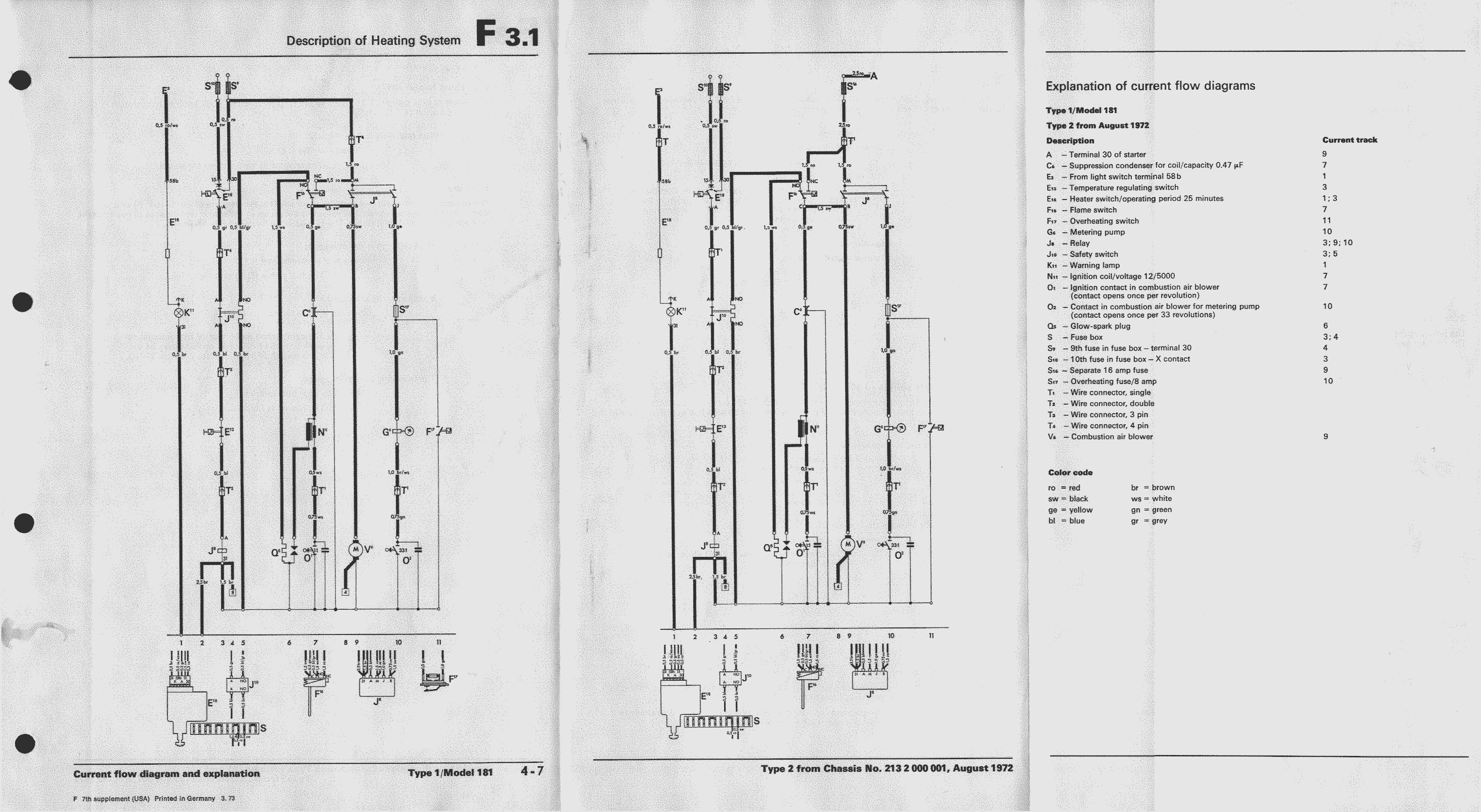 Obsolete Air Cooled Documentation Project Vw Workshop Manual 76 Type 2 Wiring Diagram Types And 181
