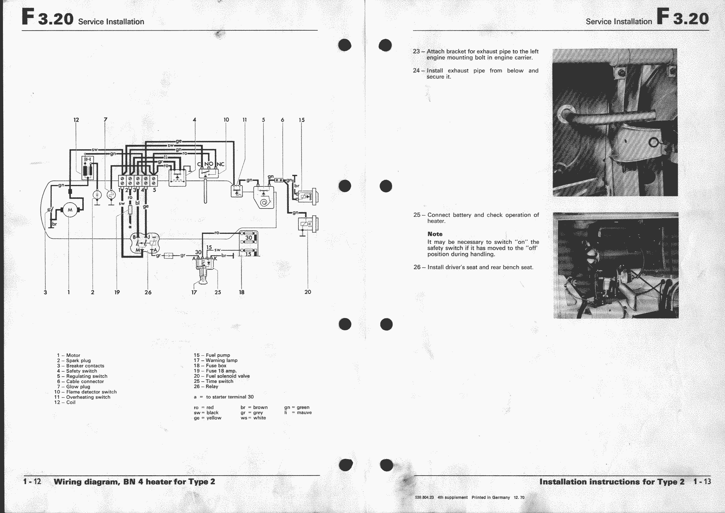 1973 Vw Super Beetle Wiring Diagram For Rear Window Defroster Fuse Box Obsolete Air Cooled Documentation Project Workshop Manual