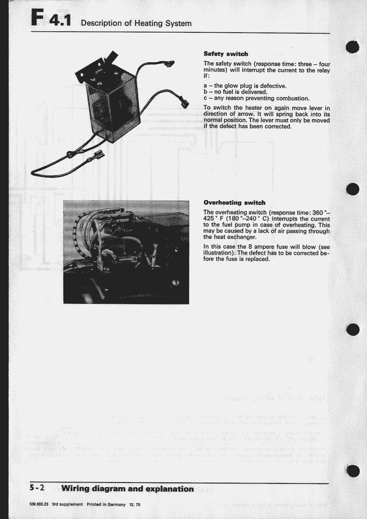 Obsolete Air Cooled Documentation Project Vw Workshop Manual 12 Valve Mins Fuel Heater Wiring Diagram Types 1 And 3